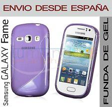 FUNDA GEL TPU MORADA para SAMSUNG GALAXY FAME S6810 en ESPAÑA CARCASA