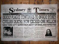 "(278) NOVELTY POSTER HALLOWEEN ZOMBIE VIRUS WALKING DEAD SYDNEY AUSTRALIA 11x17"""