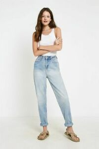 Urban Outfitters BDG Bleached Light Blue Mom Jeans, RRP £55