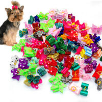 20pcs/lot Rubber Bands Long Hair Topknot Dog Hair Bows Grooming Accessories