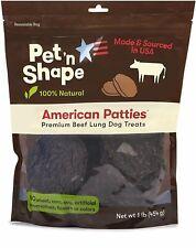 New listing Pet 'n Shape American Patties Premium Beef Lung Dog Treats, 16-oz bag