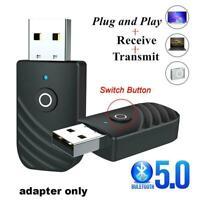 Wireless USB Bluetooth 5,0 Audio Sender Empfänger 3in1 Adapter x1 Auto PC L6U8