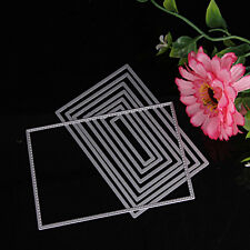 8pcs Rectangle Cutting Dies Stencil DIY Scrapbooking Album Card Embossing Craft