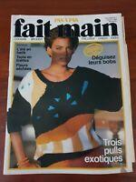 Revue magazine FAIT MAIN PAS A PAS tricot couture crochet vintage Juillet 1986