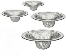 4 Pc MESH SINK STRAINER SET Drain Kitchen Bathroom Tub small parts cleaner