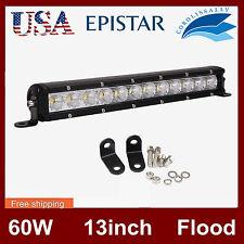 13 Inch 60W LED Work Light Bar Driving Flood Off-road ATV Truck Single Row Jeep