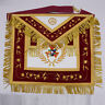 Royal Arch Past PHP High Priest Masonic Apron Hand Embroidery Red with Gold