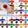 "5-100Pcs DIY 2""Satin Ribbon Rose Flower Craft Wedding Appliques bow sewing Decor"