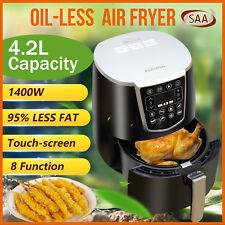 AUCMA Oil Free Air Fryers Oven Cooker 8 Menu LCD Rapid Healthy Black Deep Cooker