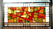 "Stained Glass Window Panel Hanging  Transom - (23 1/2"" x 12 1/2"")"