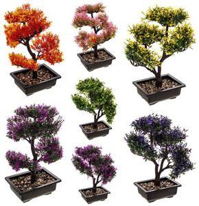 ARTIFICIAL PLANTER PLASTIC TREE BONSAI EXOTIC TROPICAL PLANT DECORATION DECOR