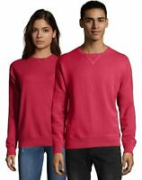 Hanes Sweatshirt Adult ComfortWash Garment Dyed Fleece Mens Womens Ribbed Cotton