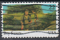 USA Briefmarke gestempelt 22c Boy Scouts / 1504