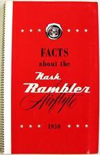 NASH RAMBLER Facts Original Car Sales Brochure 1950s #NA50-388-1 USA