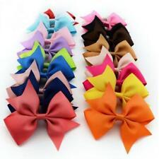 10Pcs 4in Hair Bow Alligator clips for Baby Girls Kids Ribbon Pinwheel Bows Clip