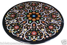 3.5'x3.5' Marble Dining Table Top Handmade Art Marquetry Mosaic Christmas Decor