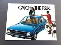1974 Audi Fox Original Sales Brochure Folder - 80 Car