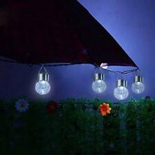 Outdoor Waterproof RGB Solar LED Lamp Crack Glass Hanging Crackle Ball Light