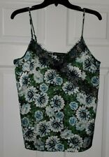 $59 NWT INC Womens Green Garden V-Neck Floral Lace Camisole Top Size M Medium