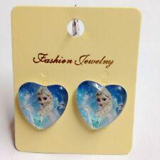 Free Ship Cute Elsa Kid Girls/Women Frozen Princess Clip-On Earrings Cool Gift
