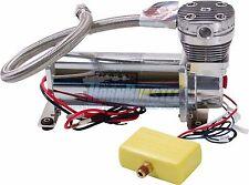 HornBlasters 480C Chrome Heavyweight Air Compressor Kit for Suspension & Horns