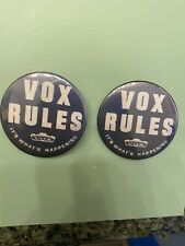 2x Vox Amplifier Badge Button Pin Beatles