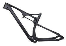 29er Full Suspension Carbon Frame EPS Matt MTB Thru Axle Mountain Bike 17.5 BB92