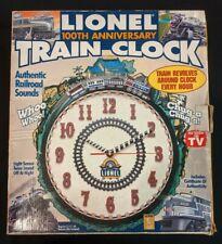 New Lionel 100th Anniversary Train Clock, Revolving w/ Sound