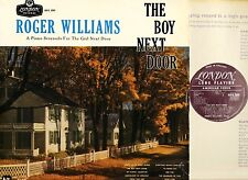 ROGER WILLIAMS the boy next door HA-R 2089 originally uk mono 1955 LP EX/VG
