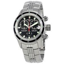 Certina DS Blue Ribbon Black Dial Mens Chronograph Steel Watch C0074171105100