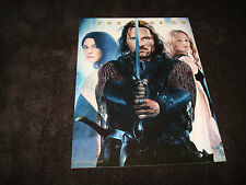 LORD OF THE RINGS FELLOWSHIP OF THE RING Oscar ad Aragorn with sword & Arwen