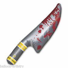 "23 ""Halloween Horror desarmadero cuchillo ensangrentado Inflable Prop Decoración"