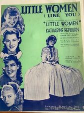 Little Women (Like You) Vintage Movie Sheet Music Katharine Hepburn 1933