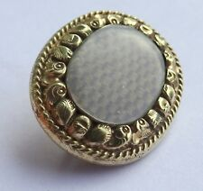 Victorian 15CT Gold Filled Woven Hair  Mourning Brooch