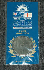 ASHES MEDALLION AUSTRALIA ENGLAND CRICKET SMITH WARNER COOK ANDERSON STARC ROOT