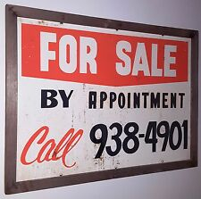 HOME FOR SALE VINTAGE ADVERTISING METAL SIGN HAND PAINTED YARD ADVERTISEMENT