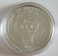 Laos 50 Kip 1991 Fußball-WM in den USA Ball Silber