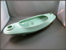 VTG 1950'S. BRUSH / MCCOY POTTERY FOOTED CONSOLE/CENTERPIECE CANDLEHOLDER BOWL