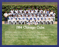1984 CHICAGO CUBS BASEBALL TEAM 8X10 PHOTO
