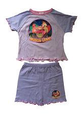 Muffinland pyjama short lilas deux pièces pour fille 2-3 ans motif oiseaux
