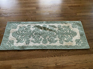 Hawaiian Quilt Table Bed Runner Wall Hanging 100% Hand Quilted/Appliqued Cream