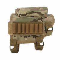 Tourbon Tactical Rifle Cheek Rest Riser w/Ammo Slide Holder Buttstock Shooting