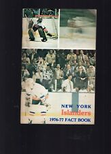 1976-77 NEW YORK ISLANDER NHL HOCKEY FACT BOOK/YEARBOOK-DENIS POTVIN-128 PAGES