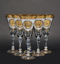 6 GLÄSER, BOHEMIA, HANDBEMALT IN GOLD, SERIE VICTORIA,, TSCHECHISCHE REPUBLIK