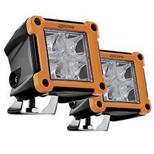 "2pcs 3"" inch 20W Led Pod Lights Work Bar Headlight Bulb w/ Red DRL Philips Chips"