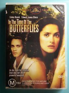 In The Time Of The Butterflies DVD Salma Hayek RARE Movie - AUSTRALIAN REGION 4