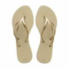 Havaianas Slim Tria Rubber Flip Flops Women Sand Grey 7/8 US 39/40 EUR