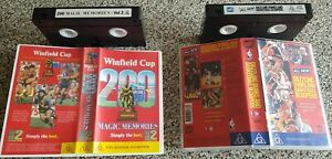2 x sports VHS videos, Rugby League Winfield Cup 200 Vol 2 + Basketball Bloopers