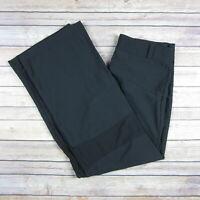 NIKE Dri Fit Women's Loose Fit Side Zip Athletic Pants SIZE M Medium Black
