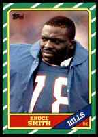 1986 Topps #389 Bruce Smith HOF ROOKIE Buffalo Bills / VA Tech